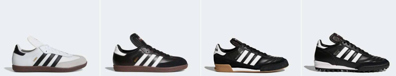 Samba Classic White | Samba Classic Black | Mundial Goal Shoes | Mundial Team Shoes